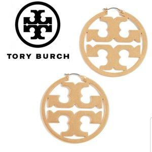 ■Tory Burch■ Miller Metallic Hoop Earrings